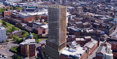 Newcastle's tallest ever crane heralds new era for city's property market